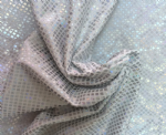 NC-522-89 Diamond laser foil print fabric